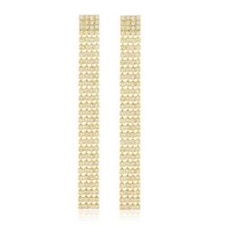 Kolczyki czeskie kryształy 11,5cm EA1966 53/118