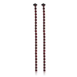 Klipsy czeskie kryształy 18cm - EA1972 53/234