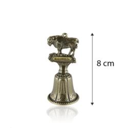 Figurka żubr - dzwonek - 8cm - FR255