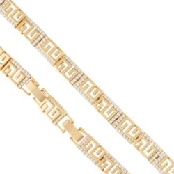 Bransoletka pozłacana - Xuping - 19,5cm - BP3754