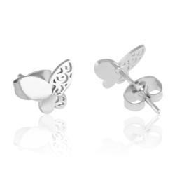Kolczyki stal chirurgiczna motylek - 1cm - EAP8838