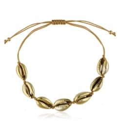 Bransoletka ze złotymi muszelkami - BRA921