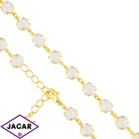 Bransoletka czeska z kryształami - BRA957