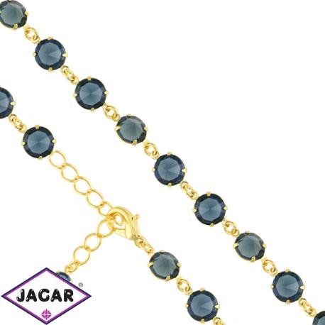 Bransoletka czeska z kryształami - BRA960