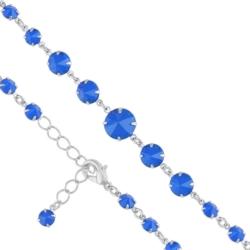 Bransoletka czeska z kryształami - BRA973