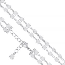 Bransoletka czeska z kryształami - BRA989