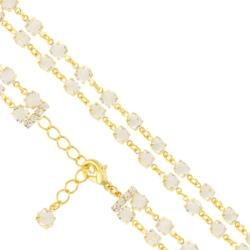 Bransoletka czeska z kryształami - BRA990