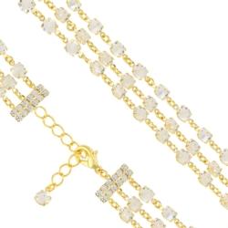 Bransoletka czeska z kryształami - BRA1026
