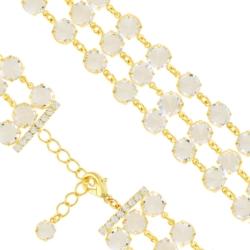 Bransoletka czeska z kryształami - BRA1029