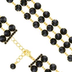 Bransoletka czeska z kryształami - BRA1030