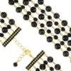 Bransoletka czeska z kryształami - BRA1055