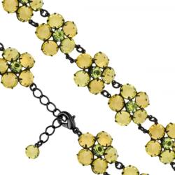 Bransoletka czeska z kryształami - kwiat - BRA1059