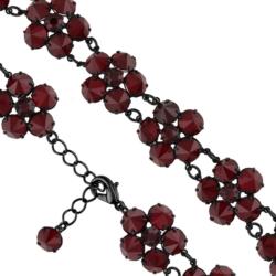 Bransoletka czeska z kryształami - kwiat - BRA1061