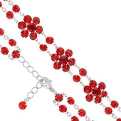 Bransoletka czeska z kryształami - kwiat - BRA1063