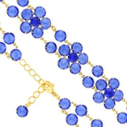 Bransoletka czeska z kryształami - kwiat - BRA1067