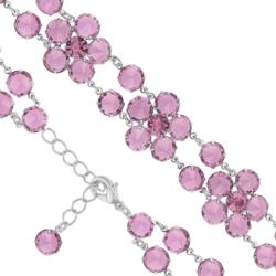 Bransoletka czeska z kryształami - kwiat - BRA1068