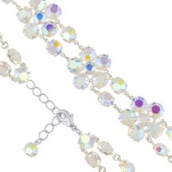 Bransoletka czeska z kryształami - kwiat - BRA1070