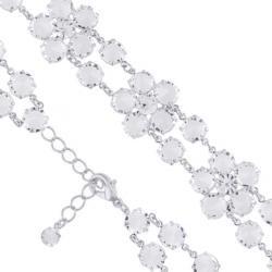Bransoletka czeska z kryształami - kwiat - BRA1072