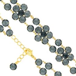 Bransoletka czeska z kryształami - kwiat - BRA1075