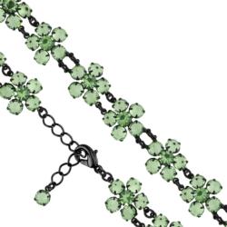 Bransoletka czeska z kryształami - kwiat - BRA1078