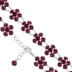 Bransoletka czeska z kryształami - kwiat - BRA1079