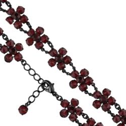 Bransoletka czeska z kryształami - kwiat - BRA1080
