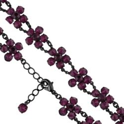 Bransoletka czeska z kryształami - kwiat - BRA1082