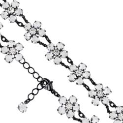 Bransoletka czeska z kryształami - kwiat - BRA1083