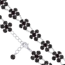 Bransoletka czeska z kryształami - kwiat - BRA1084