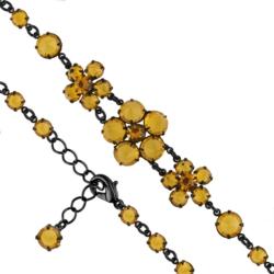 Bransoletka czeska z kryształami - kwiat - BRA1085