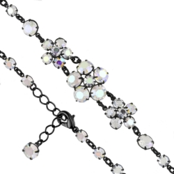 Bransoletka czeska z kryształami - kwiat - BRA1086