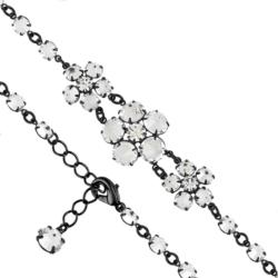 Bransoletka czeska z kryształami - kwiat - BRA1087