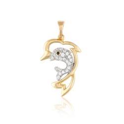 Przywieszka pozłacana - delfinki - Xuping PRZ1860