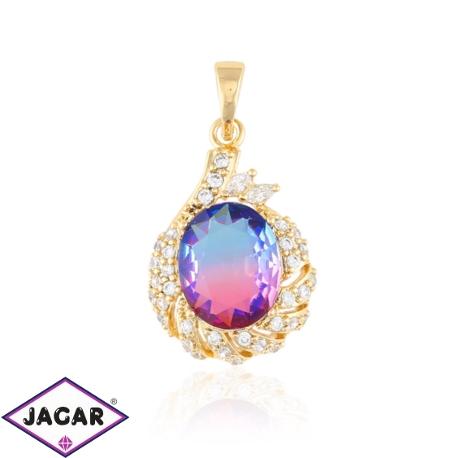 Przywieszka z kolorowym kryształem- Xuping PRZ1893
