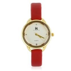 Zegarek damski - czerwony - Z632