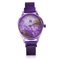 Zegarek damski- bransoleta magnetyczna fiolet Z644