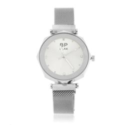 Zegarek damski bransoleta magnetyczna srebrna Z652