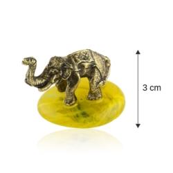 Fig. metalowa - słoń na kamyku Afrykański - FR258