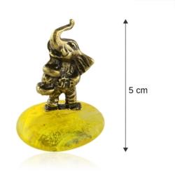 Fig. metalowa - słoń na kamyku Kulturysta - FR259