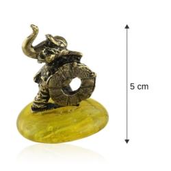 Fig. metalowa - słoń na kamyku Ratownik - FR261