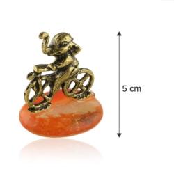 Fig. metalowa - słoń na kamyku Rower - FR263