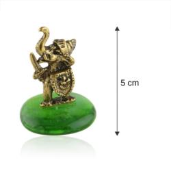 Fig. metalowa - słoń na kamyku Rycerz - FR267