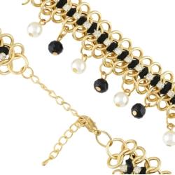 Bransoletka perły i kryształy - BRA1122