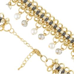 Bransoletka perły i kryształy - BRA1123
