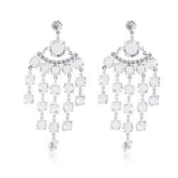 Kolczyki czeskie wiszące kryształy - 53/286 EA2003