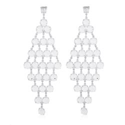 Kolczyki czeskie wiszące kryształy - 63/105 EA2005