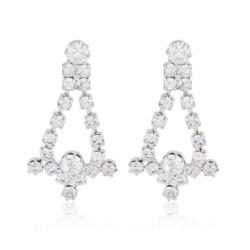 Kolczyki czeskie z kryształkami - 50/98 - EA2067