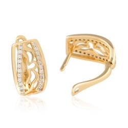 Kolczyki ażurowe z kryształkami - Xuping - EAP9314