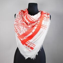 Chusta damska czerwona - 140x140cm WO783