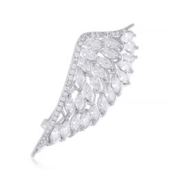 Broszka - kryształowe skrzydełko - 5cm - BRP31